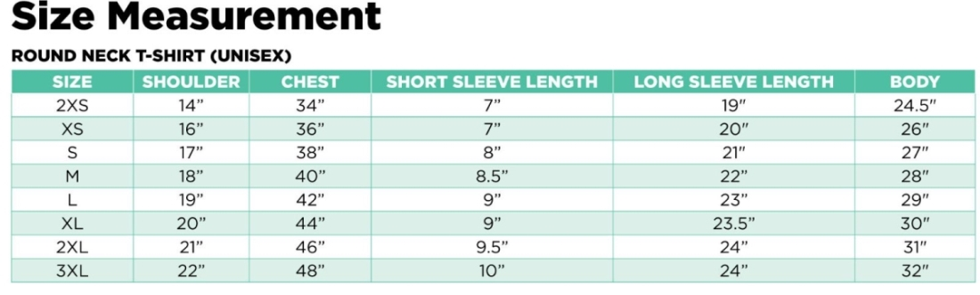 Sizing Measurements